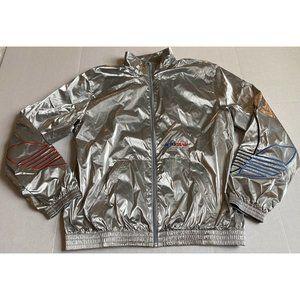 Adidas Adicolor Men's Silver Metallic Jacket Sz S